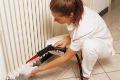 czyszczenie grzejników z kurzu myjką parową Evo 304 DET