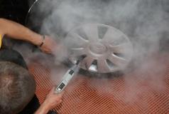 czyszczenie koła myjka parowa junior star max 6 bar