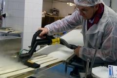test mycia przenośnika taśmowego za pomocą systemu parowego Steam Plant