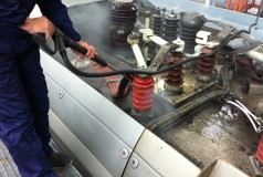 czyszczenie wagonu parownica steam box vac industrial 10 bar