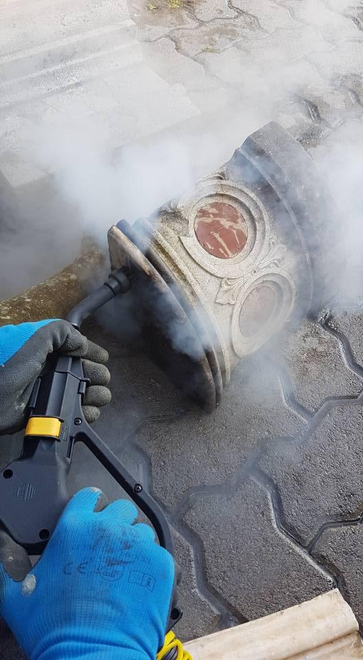 czyszczenie i konserwacja zabytków parownicą