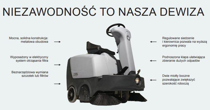 Zamiatarka samojezdna Nilfisk SR1000S 6